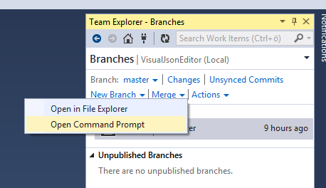 Merging a Pull Request in Visual Studio - Rico Suter's blog